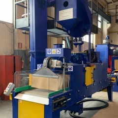De-burring treatment shoblasting machines