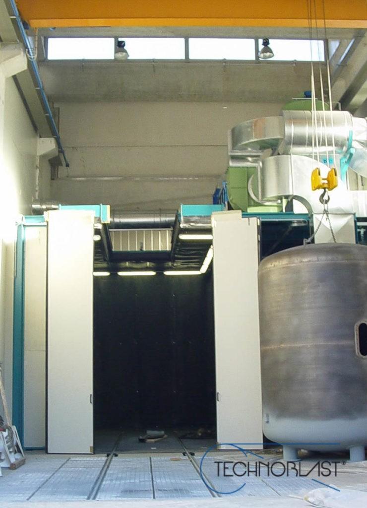 Technoblast • Blasting chamber free flow machines